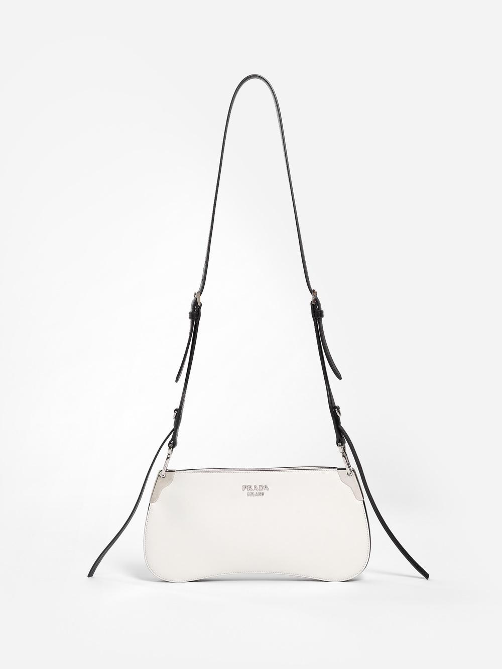 f3c0b1977001bc Prada Women's Black And White Crossbody Bag | ModeSens