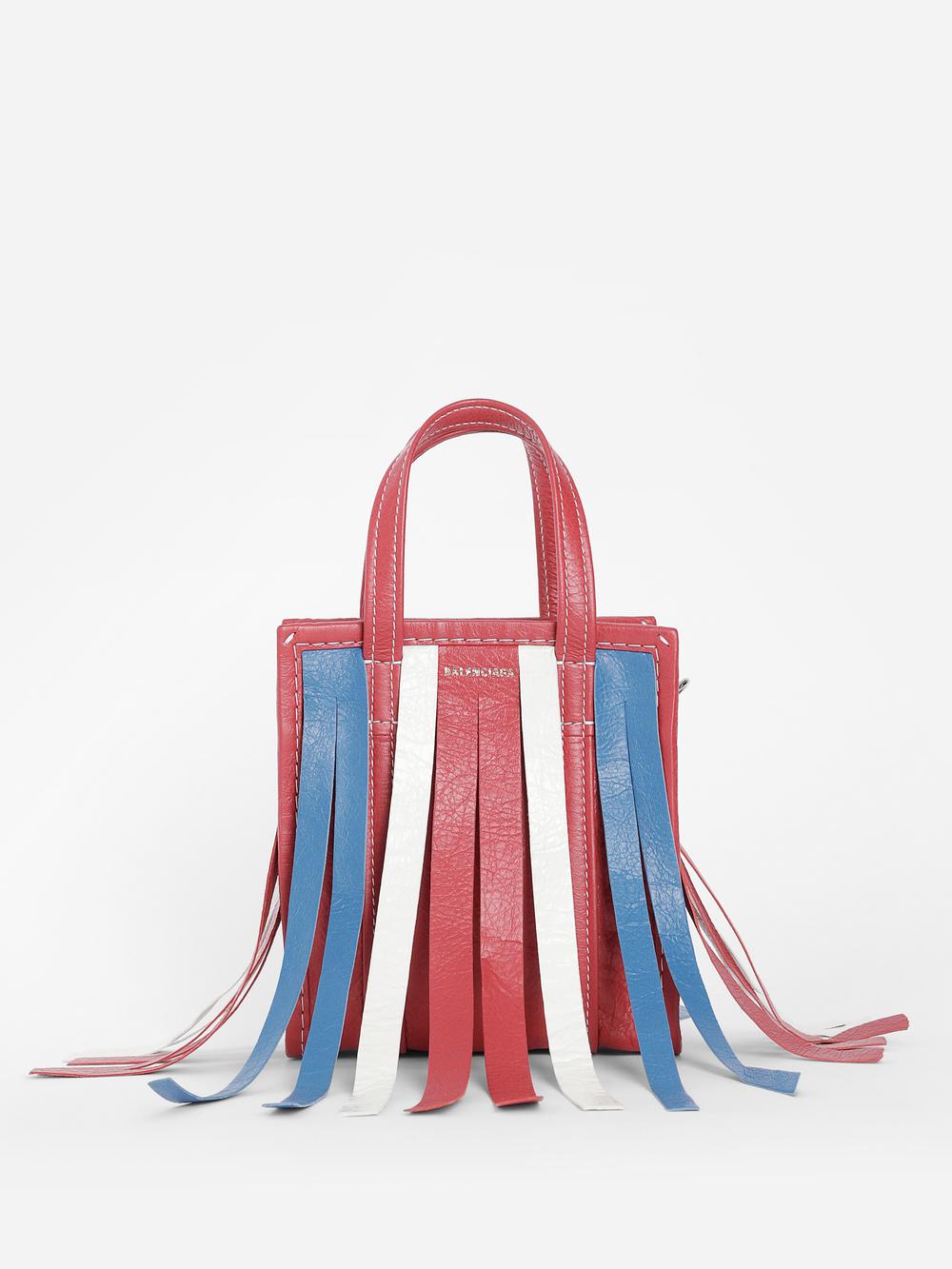9f6a61c70d2 Balenciaga Women's Multicolor Fringed Bazar Shopper Bag Xxs | ModeSens