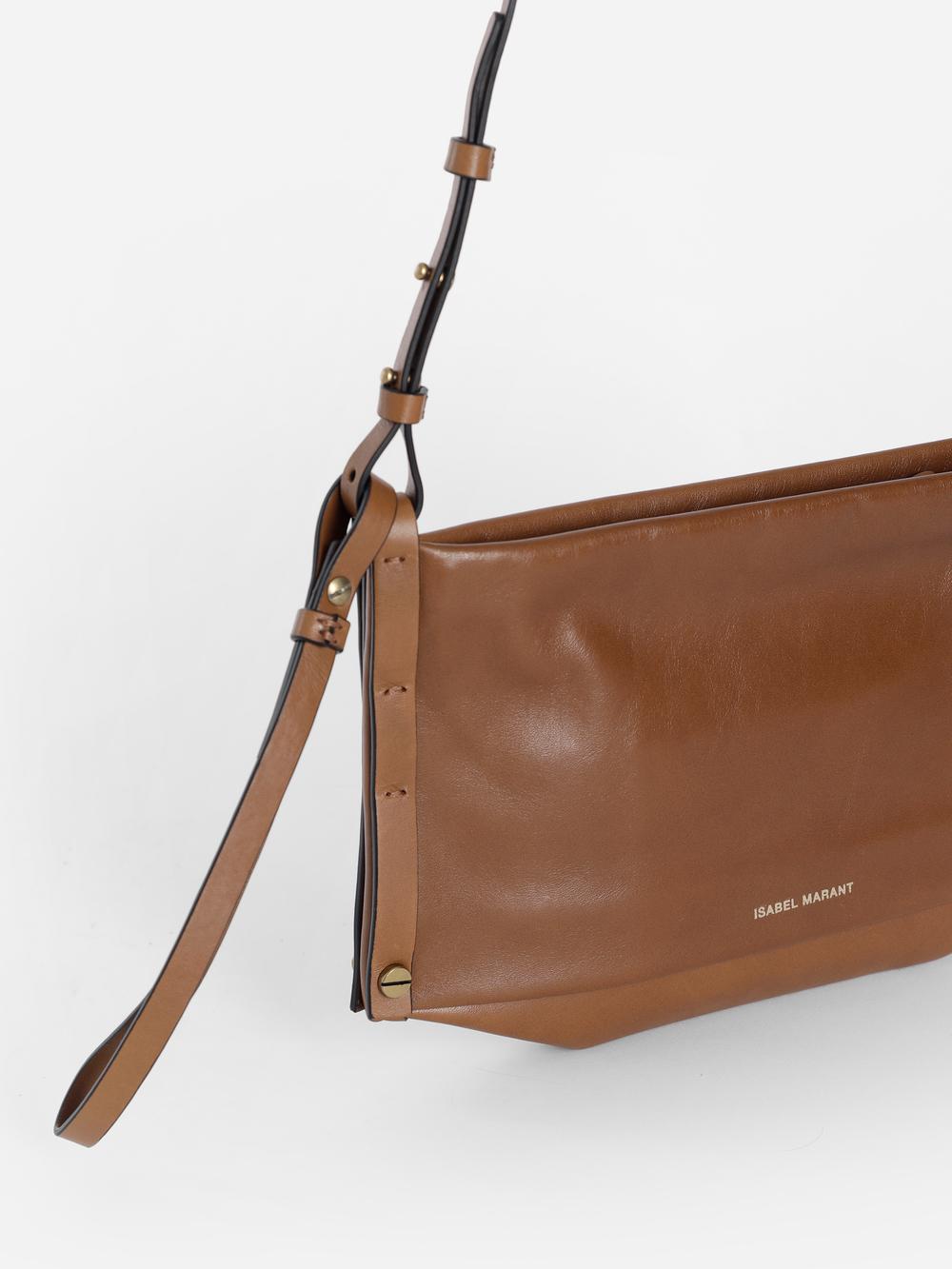1f58fc2387 Isabel Marant Women's Brown Drissa Pleated Shoulder Bag   ModeSens