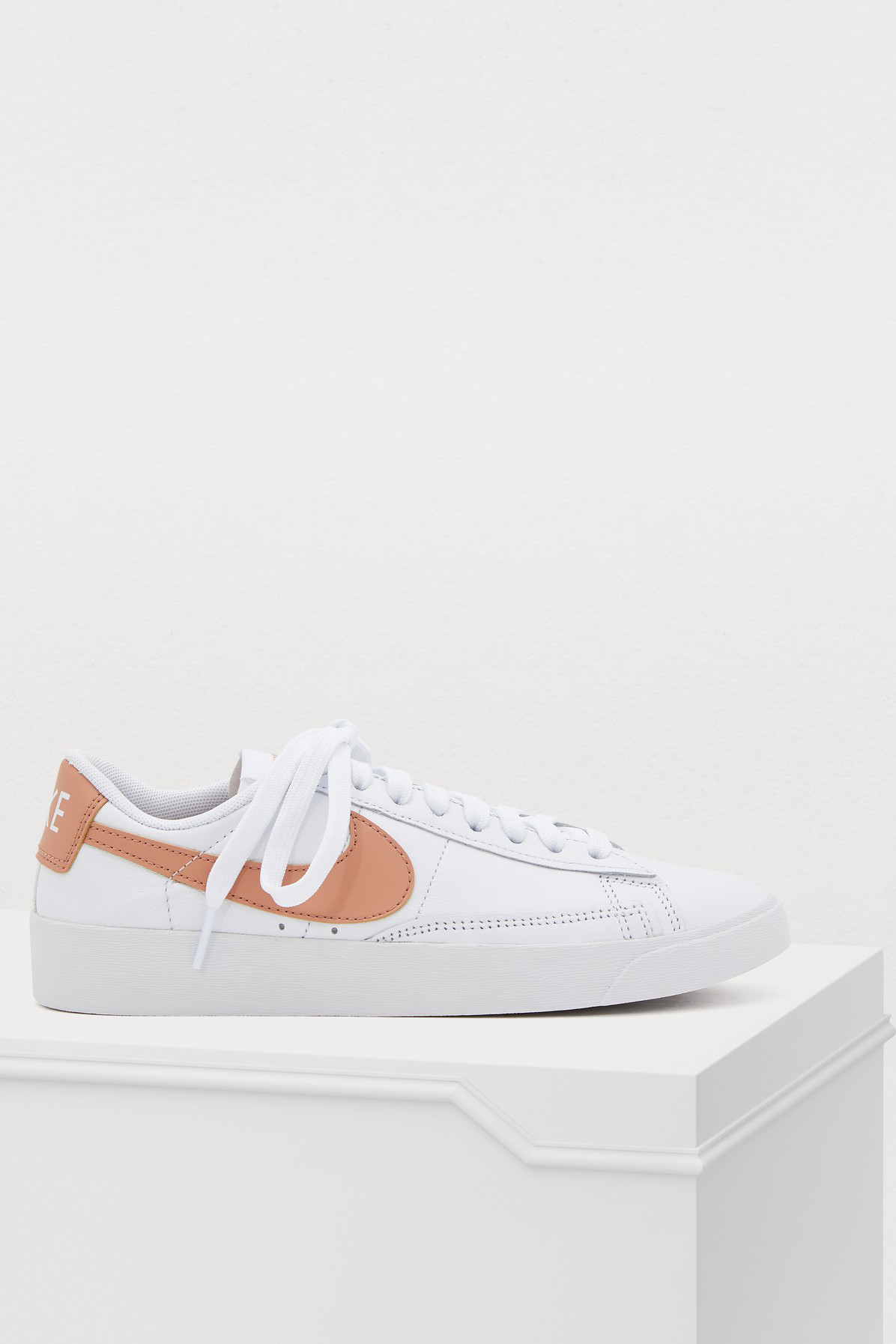 90d0a99159e6 Nike Blazer Low Sneakers In White Rose Gold-White