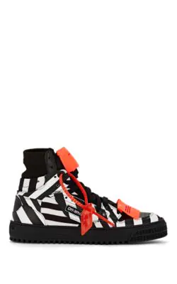 1cda2eed5846 Off-White 20Mm Off-Court Striped Leather Sneakers In Black