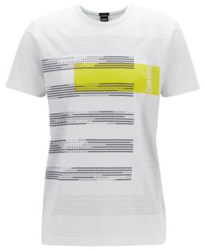 14ffc47b30a Hugo Boss Boss Men's Graphic Cotton T-Shirt In White | ModeSens
