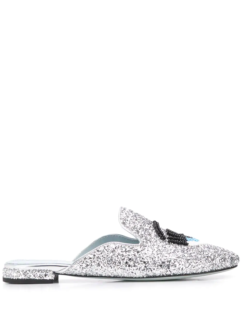 38887243aae2 Chiara Ferragni Glitter Wink Loafers - Silver. Farfetch