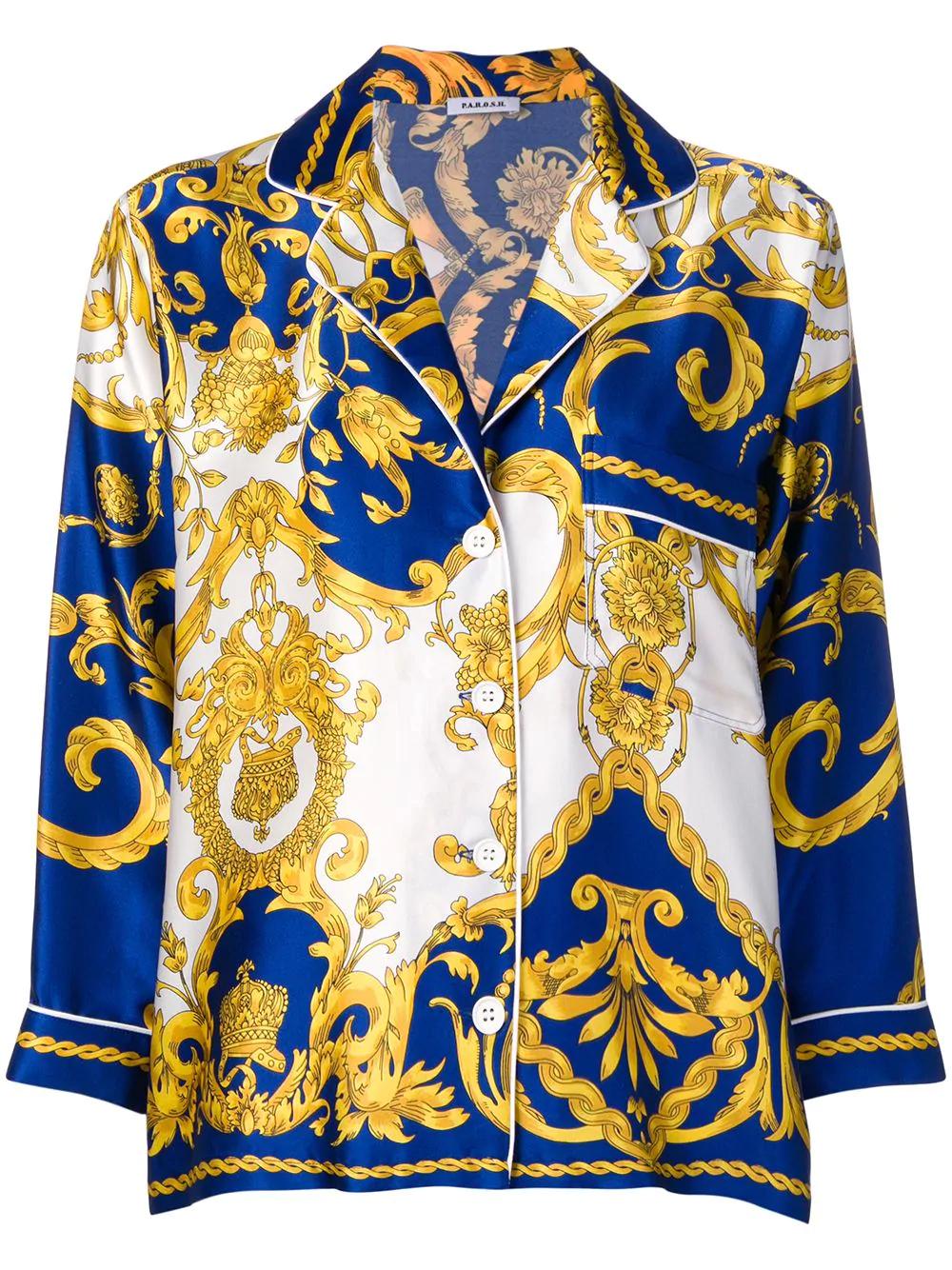 5149933d P.A.R.O.S.H. Baroque Print Shirt - Blue   ModeSens