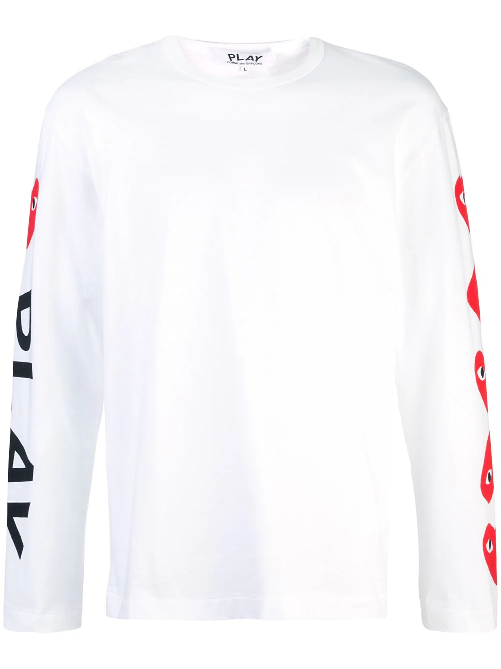6aae96bced55c1 Comme Des GarÇOns Play Almond-Eye Long-Sleeved T-Shirt - White ...