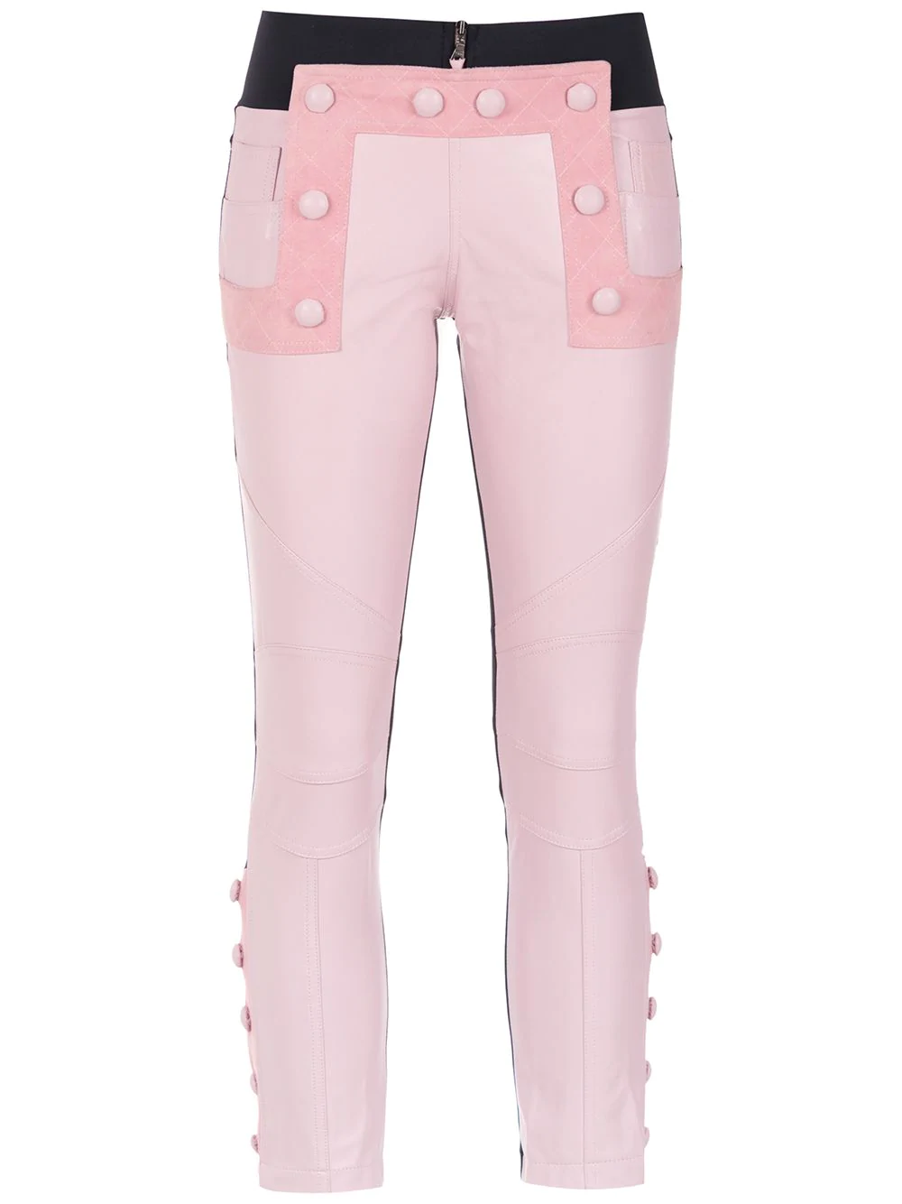 0d643a7903 Andrea Bogosian Leather Skinny Trousers - Pink | ModeSens