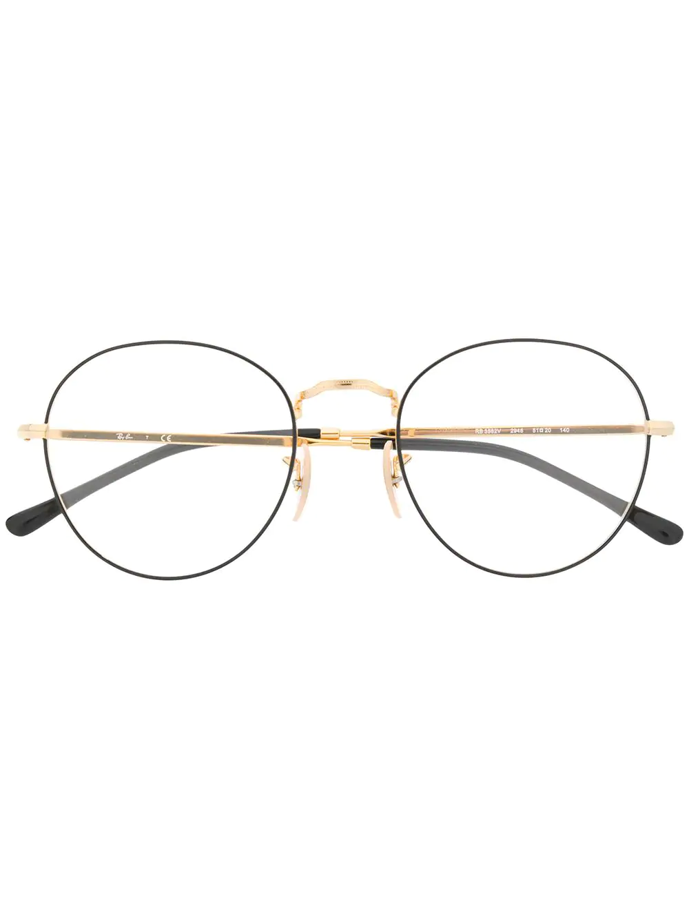 3ad79c8c21cfb Ray Ban Ray-Ban Round Glasses Frames - Gold