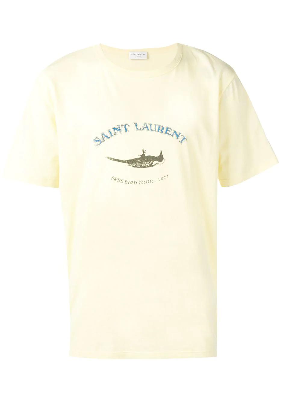 52745caa Saint Laurent Tour Logo Shirt - Yellow | ModeSens
