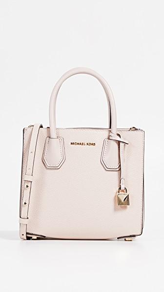 a874f1591f Michael Michael Kors Mercer Medium Accordion Messenger Bag In Soft Pink