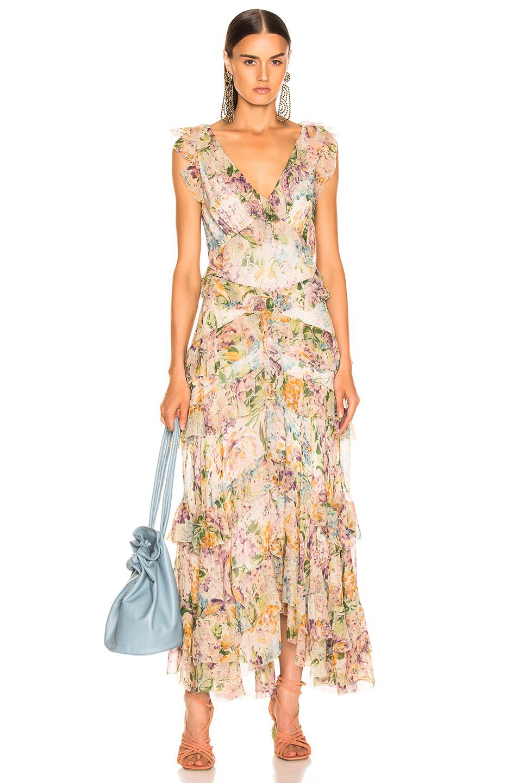 b55b218eb83c Zimmermann Ninety Six Flutter Dress In Floral