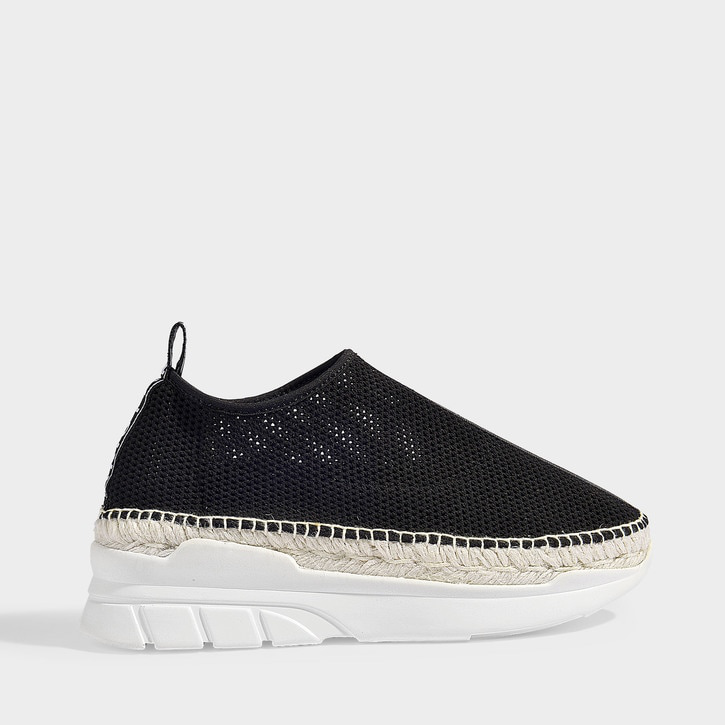 d3890e58 Kenzo Slip-On Espadrille Sneakers With Leather In 99 - Black | ModeSens