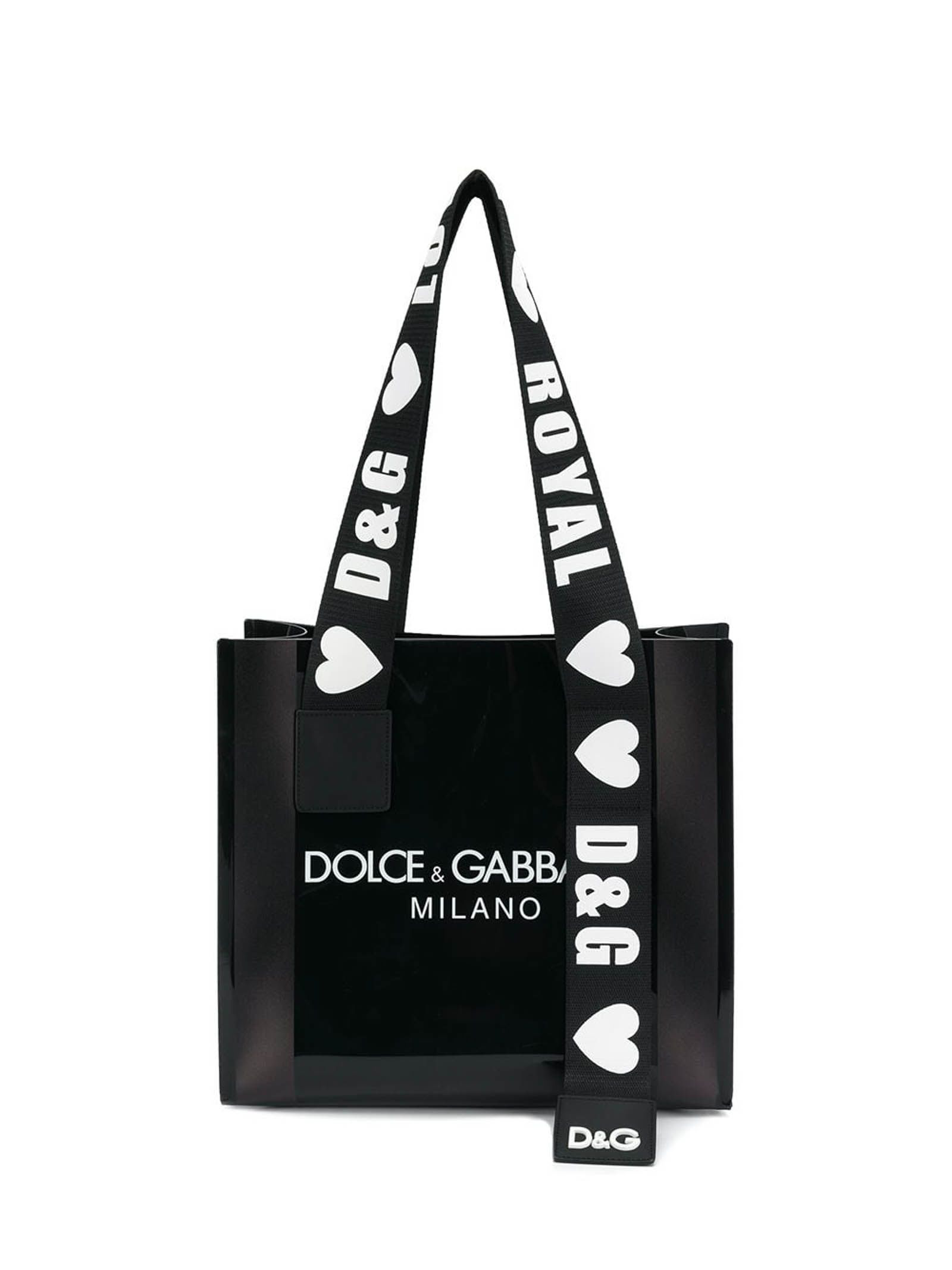 dolce gabbana logo strap shopper bag in d g milano f rosso modesens logo strap shopper bag