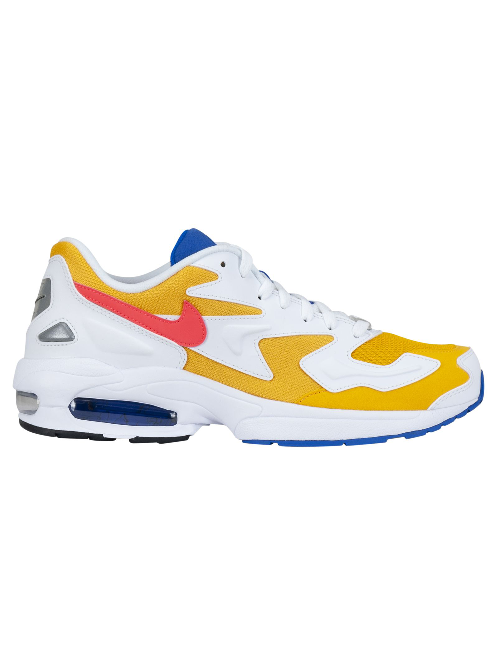 d3d775d80f Nike Air Max 2 Light Leather And Suede Sneakers In Gldflshblu | ModeSens