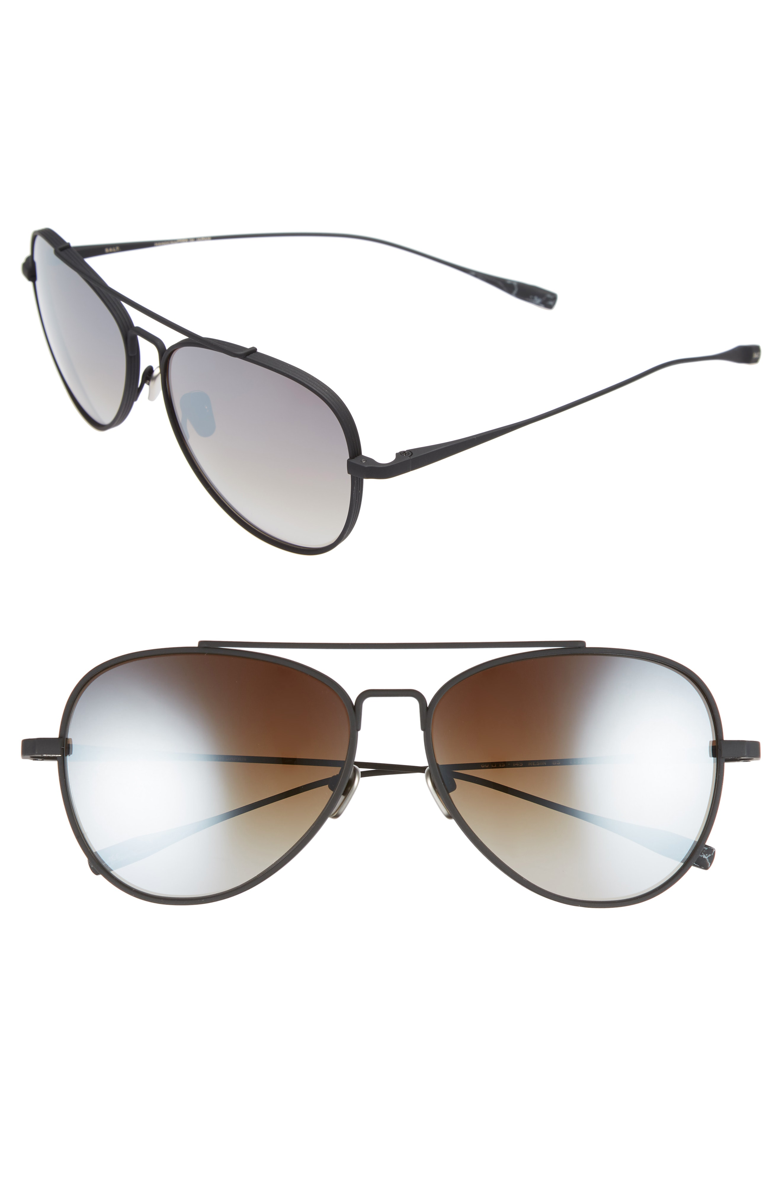 ff426b74b0 Salt. 60Mm Polarized Aviator Sunglasses - Black