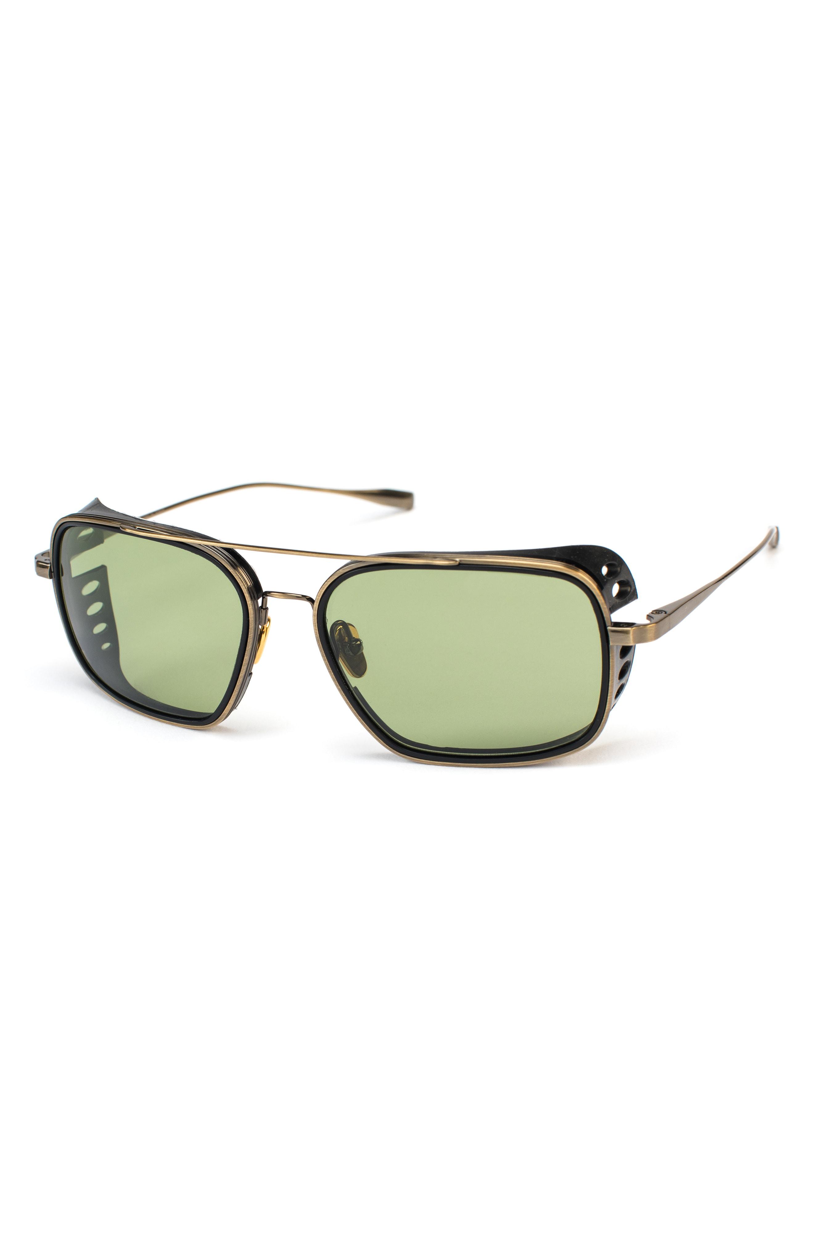 b6ebaaffff Salt. Voyager 56Mm Polarized Aviator Sunglasses - Antique Gold  Black Shield