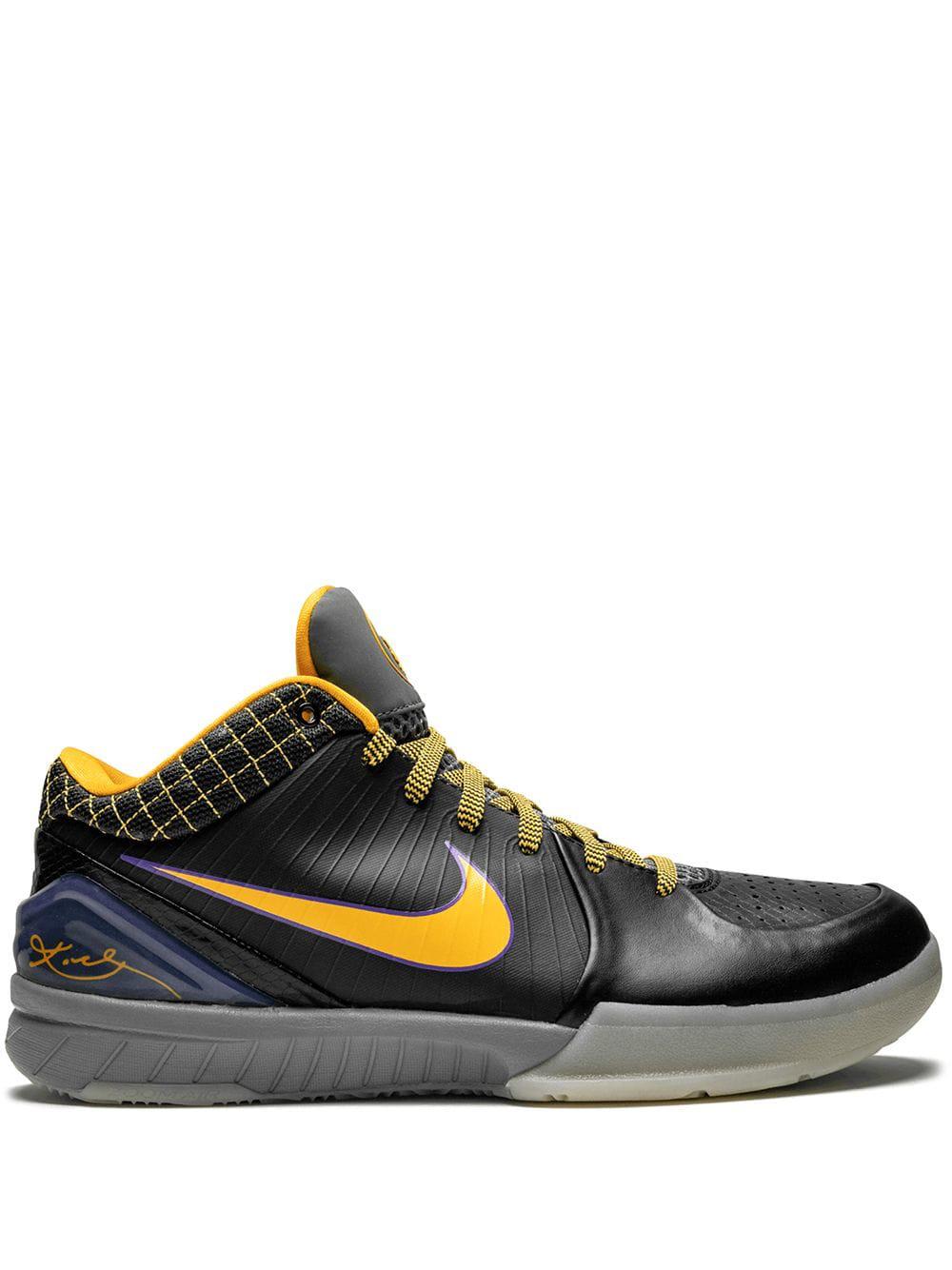 hot sale online fdcb4 206a1 Nike Zoom Kobe 4 Trainers - Black