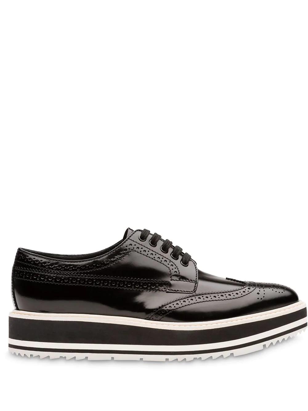 6194d17b037 Prada Platform Derby Shoes - Black