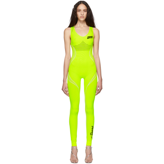 a72f7df6297a Off-White Sleeveless Racerback Knitted Jumpsuit - Green