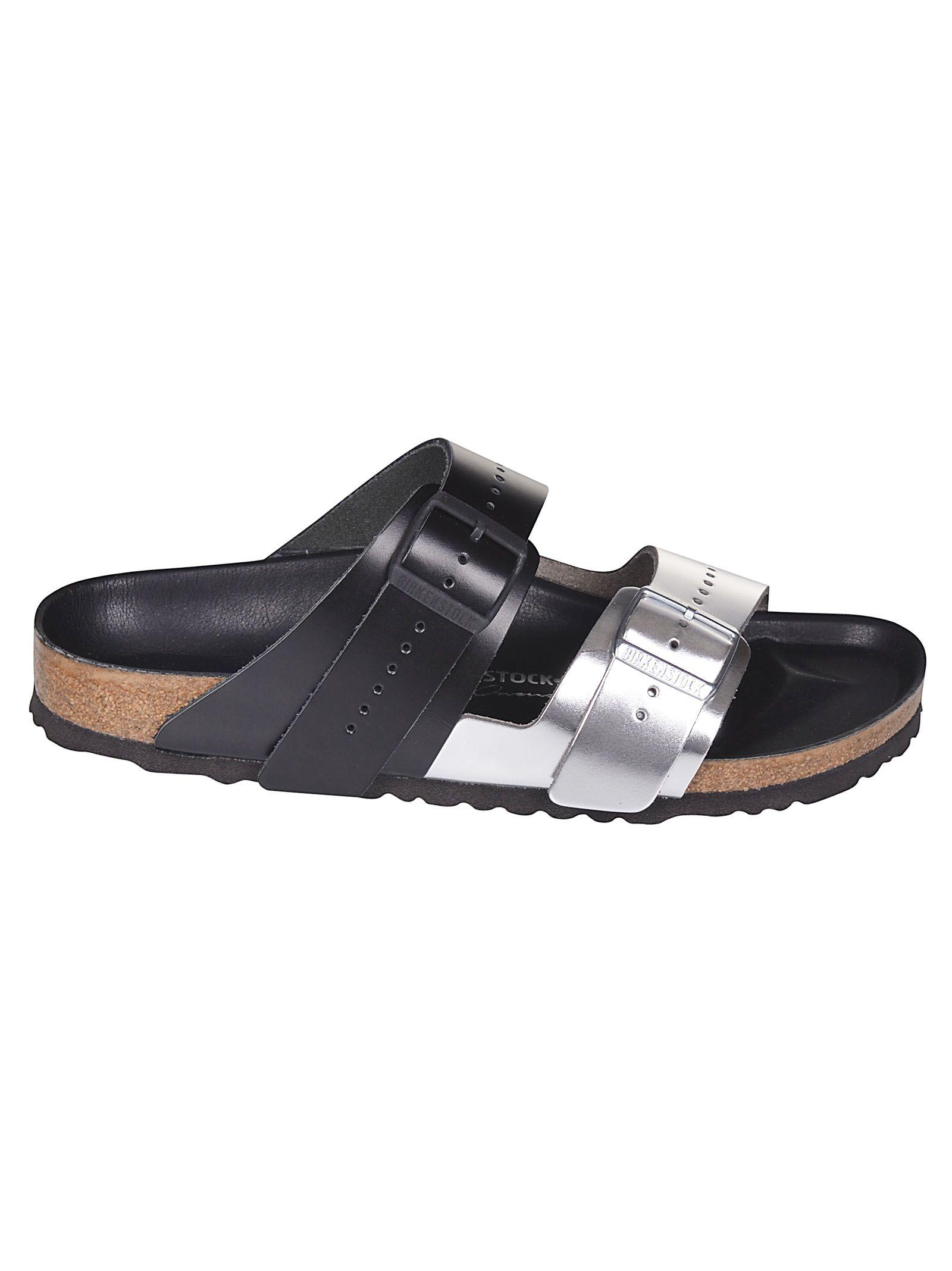 a34ff4dfccf0 Rick Owens + Birkenstock Arizona Two-Tone Leather Sandals In Black ...
