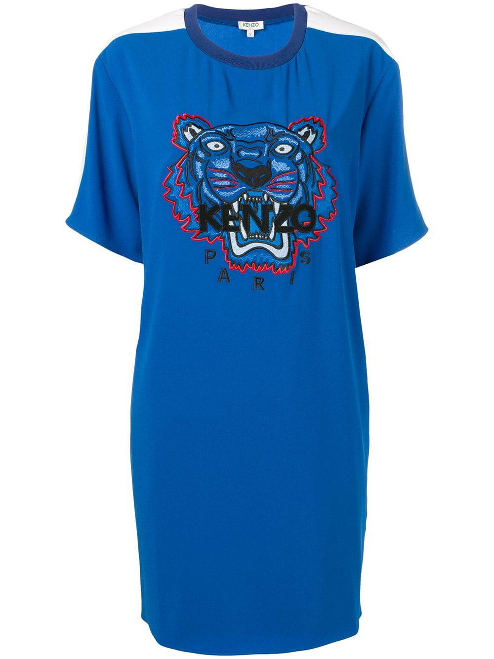 d427a7eb Kenzo Crepe Tiger Dress - Blue   ModeSens