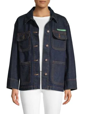 18187b3e50 Marc Jacobs Logo-AppliquÉD Denim Jacket In Dark Denim | ModeSens