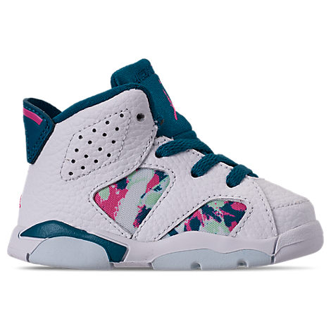 lowest price 24780 93835 Jordan Girls' Toddler Air Jordan Retro 6 Basketball Shoes, White - Size 9.0