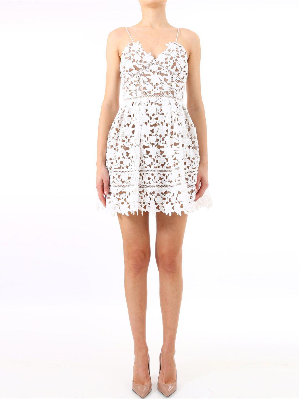 40947c383228e4 Self-Portrait Azaelea Floral Lace Sleeveless Mini Dress