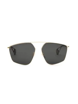 374bab9456f1 Gucci 60Mm Abstract Aviator Sunglasses In Gold