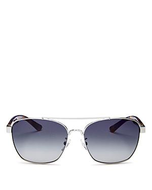 615dee28552e Tory Burch 57Mm Gradient Navigator Sunglasses - Silver/ Purple/ Blue  Gradient