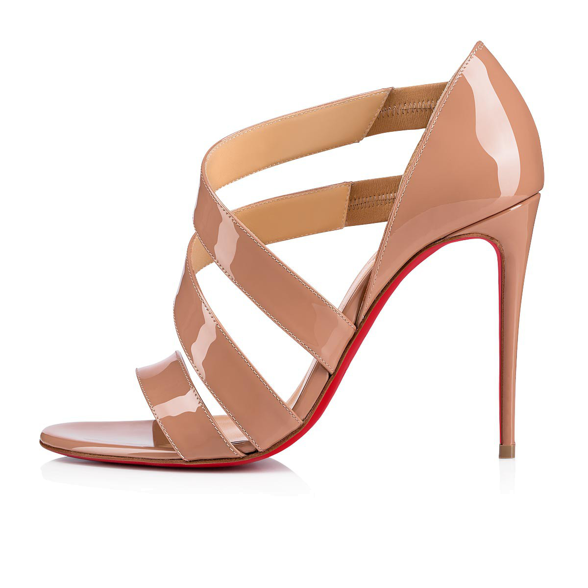 5860aa5d984b Christian Louboutin World Copine 100 Patent Leather Pumps In Nude ...
