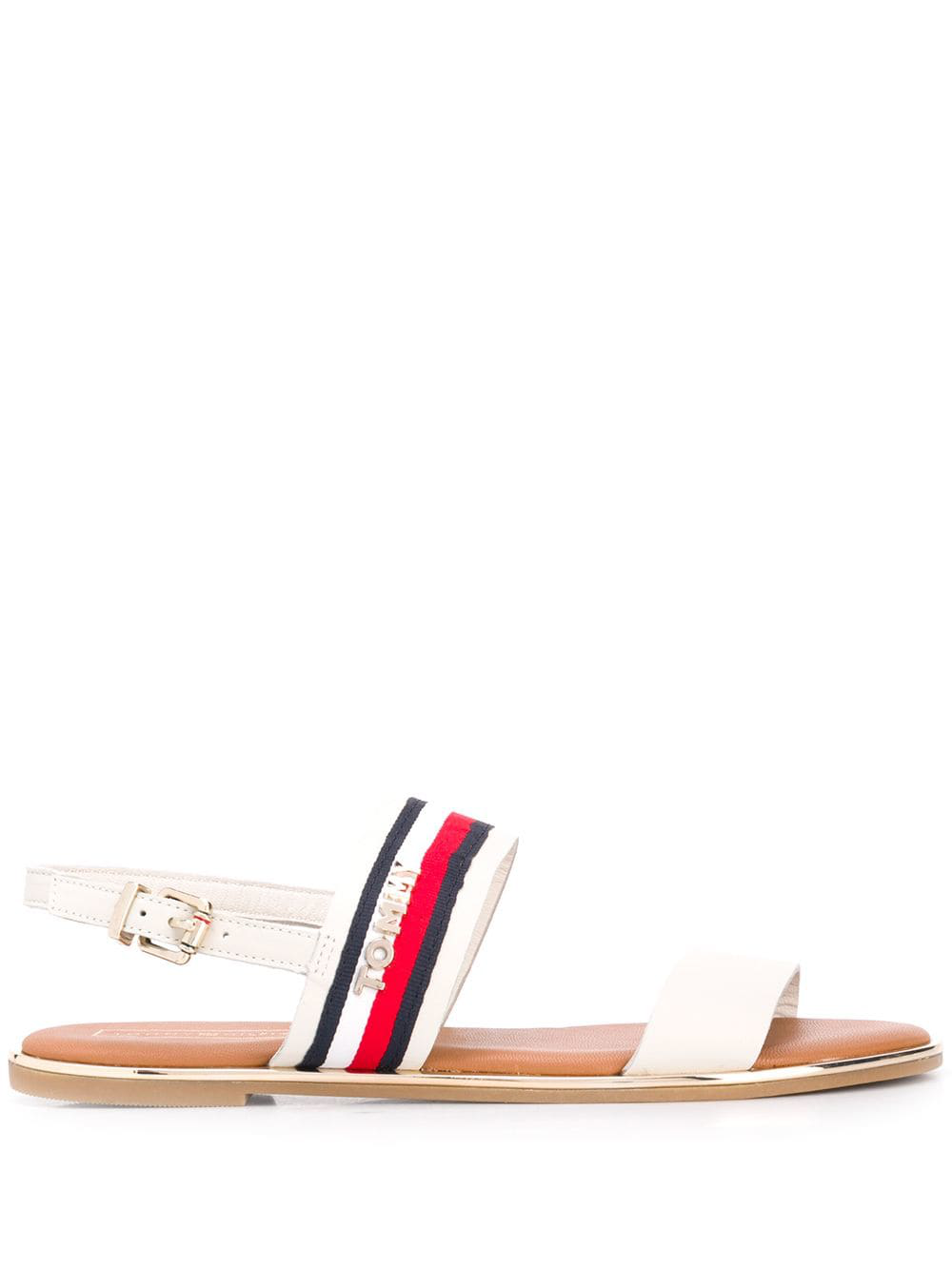2ca37706c1036 Tommy Hilfiger Strappy Flat Sandals - White