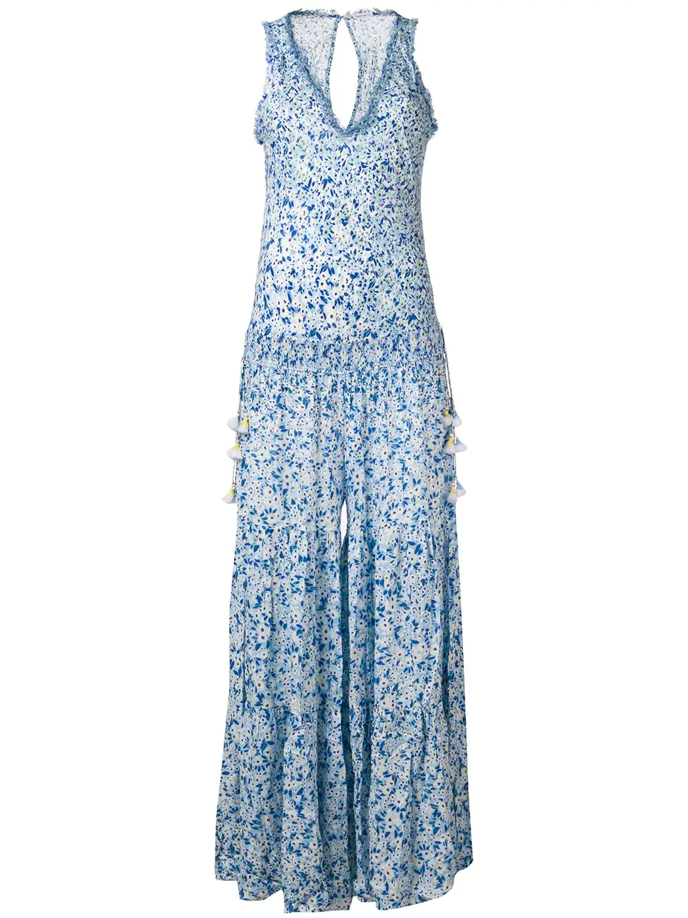 e4ca9dc35da9 Poupette St Barth Printed Palazzo Jumpsuit - Blue