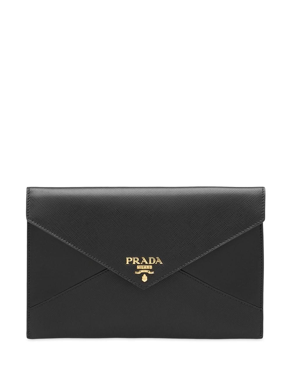 bf8e67bd68da Prada Saffiano Document Holder Set - Black | ModeSens