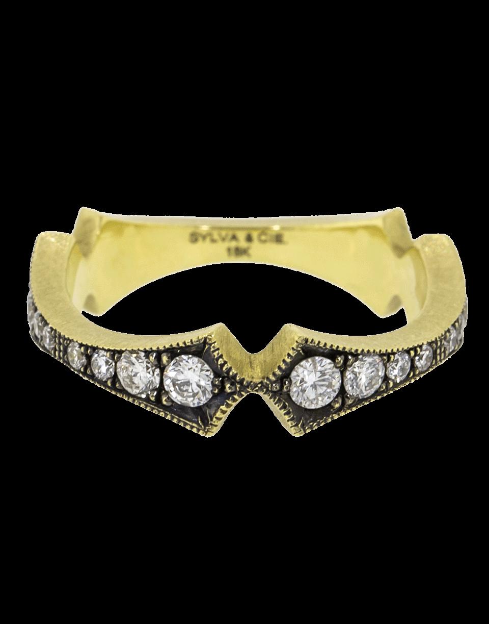 4606978b35d Sylva   Cie Diamond Corset Stack Ring In Ylwgold