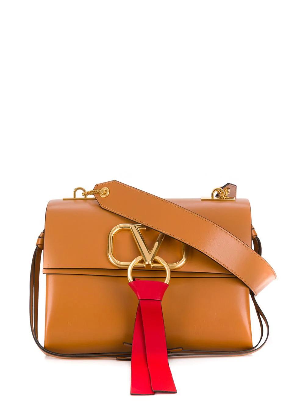 27da557fc3 Valentino Garavani V-Ring Shoulder Bag - Neutrals | ModeSens