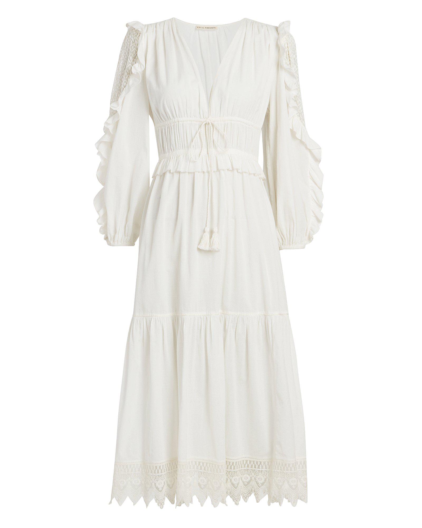 1e5c9c672dcf Ulla Johnson Sheila Lace Trim Dress White