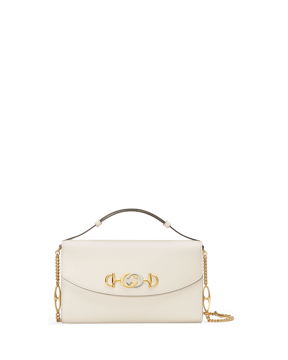 f7452ad975b Gucci Zumi Smooth Leather Small Shoulder Bag In White