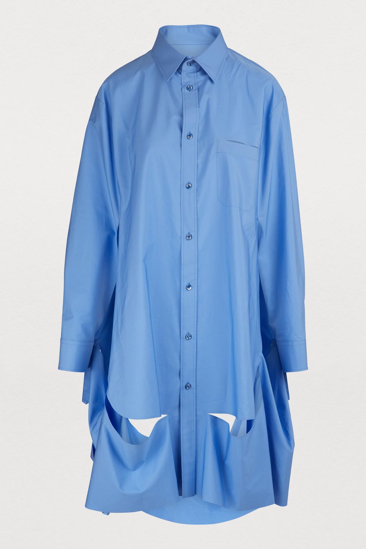 7c1d389e Maison Margiela Cotton Poplin Shirt In Sky Blue   ModeSens