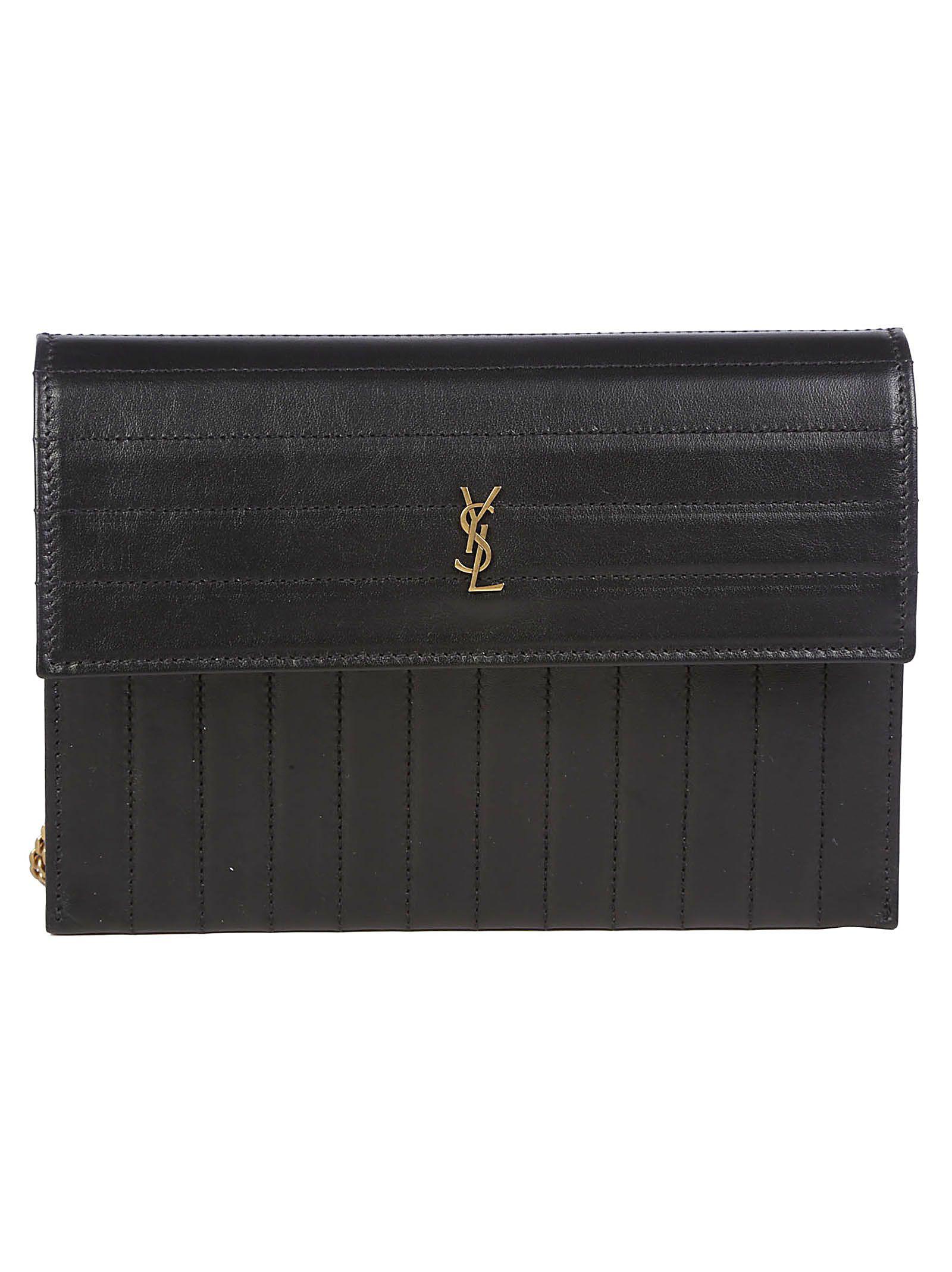964ea11e27d Saint Laurent Chain Wallet In Nero | ModeSens