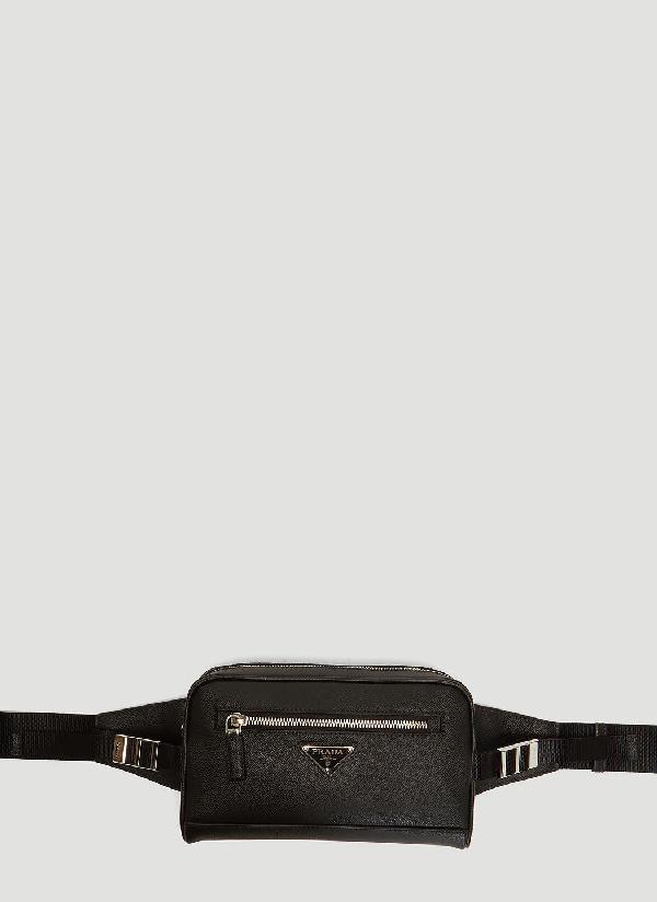 a7c0f7772ca60b Prada Saffiano Leather Belt Bag In Black   ModeSens