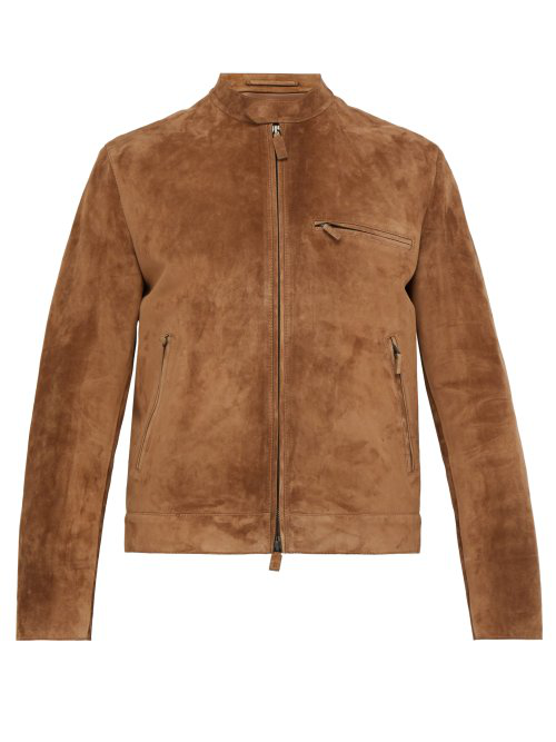 916196611f3 Berluti Single-Breasted Suede Jacket In Brown | ModeSens
