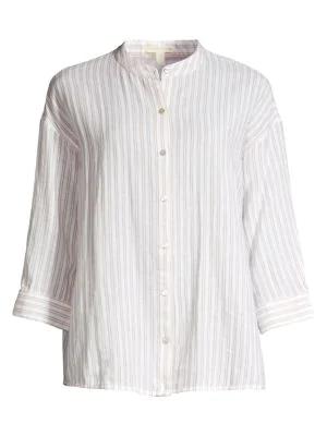 d364252de52 Eileen Fisher Stripe Collar Shirt In Khaki | ModeSens