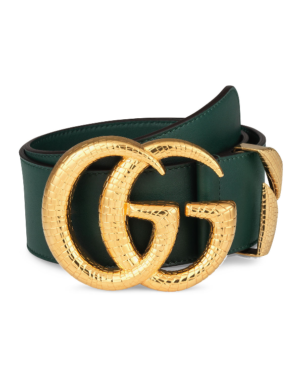fda998c7b4d1d Gucci Smooth Leather Belt W  Double G Buckle In 1000 - Black
