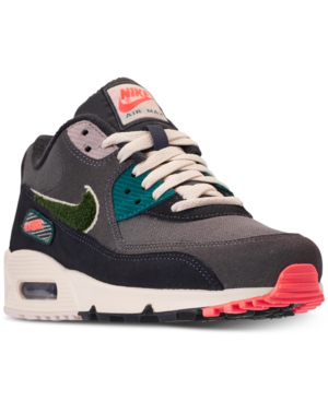 16b983a88e NIKE. Men's Air Max 90 Premium Se Casual Sneakers From Finish Line in Oil  Grey/Rainforest-Light