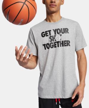 6df01c3554bb Nike Men s Dri-Fit Basketball T-Shirt In Grey