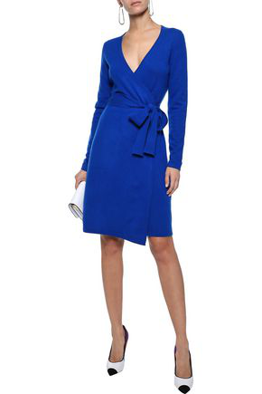 Diane Von Furstenberg Woman New Linda Cashmere Wrap Dress Bright Blue