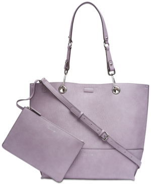 d4639607071 Sonoma Reversible Tote With Pouch in Pale Orchid/Silver