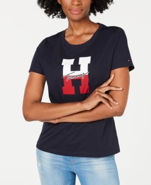 08dd5dcc Tommy Hilfiger Cotton H-Logo T-Shirt In Sky Captain | ModeSens