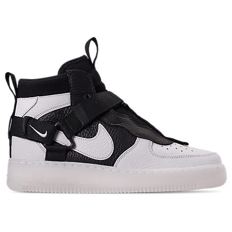 separation shoes 31529 7867c Nike Men s Air Force 1 Utility Mid Casual Shoes, White Black