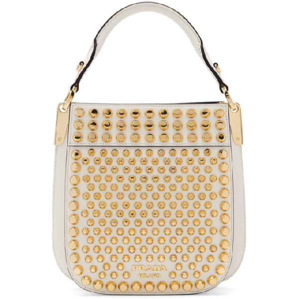 6948f624 Margit Small Studded Leather Shoulder Bag - White